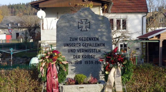 Trauriger Volkstrauertag in Kornbach